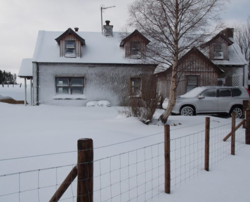Newfield Cottage in the snow